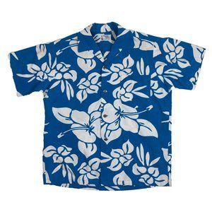 Pomare Tahiti L Large Hawaiian Aloha Camp Shirt
